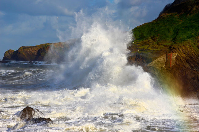 Stormy Seas #1 North Devon UK Beauty In Nature Breaking Crash Day Force Hitting Motion Nature No People Oceans Outdoors Power In Nature Sea Seascape Sky Splashing Stormy Weather Water Wave