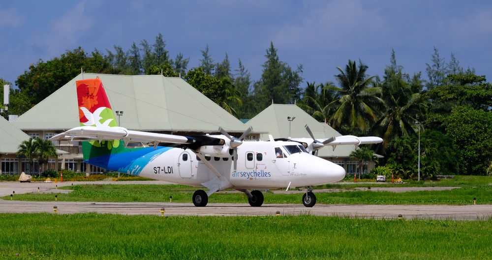 DHC-6 400 Twin Otter Air Seychelles Air Seychelles DHC-6 Holiday Holidays Seychelles Transport Transportation Travel Twin Engine Aircraft Airplane Airport Aviation De Havilland Domestic Flight Island Island Hopping Paradise Praslin Tropical Turbine Turboprop Twin Otter Twotter
