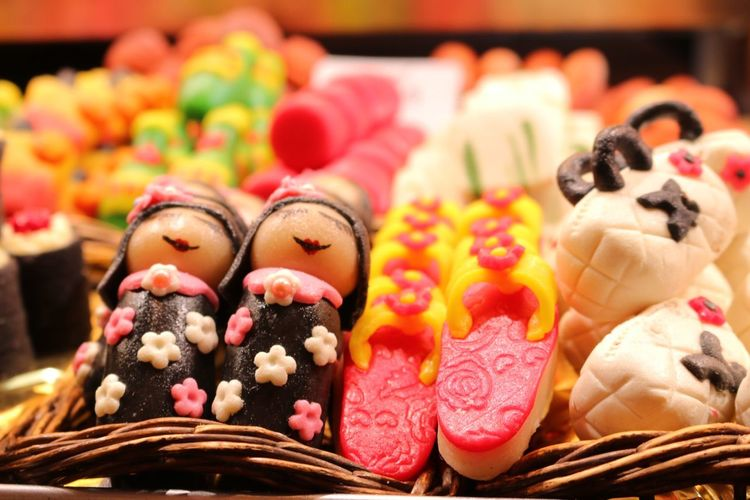 Close-Up Of Candies At Store For Sale