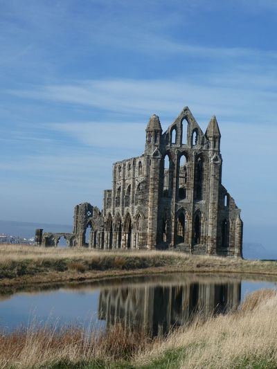 Whitby Abbey Eyemphotography EyEmNewHere Copy Space EyeEm Nature Lover Eyem Best Shots Nature_collection Sky Built Structure Architecture Water Building Exterior Nature Reflection Building No People History Travel Destinations Tourism Old Ruin