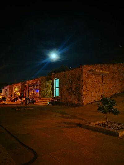 Moon Moonlight Barca De Alva Barca D'alva Night Illuminated City House Architecture Building Exterior Sky Built Structure Full Moon