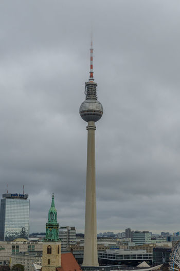 Berliner Fernsehturm (TV Tower), Berlin Architecture Berlin Berliner Fernsehturm Building Exterior Built Structure City Cityscape Cloud - Sky No People Outdoors Sky Skyscraper Tall - High Tower Travel Travel Destinations TV Tower Urban Skyline