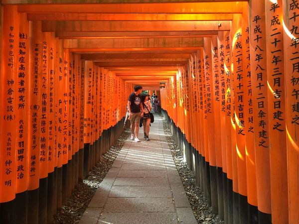 Architecture Cultures Inari Inari Shrine Kyoto Orange Color Place Of Worship Shrine Of Japan The Way Forward