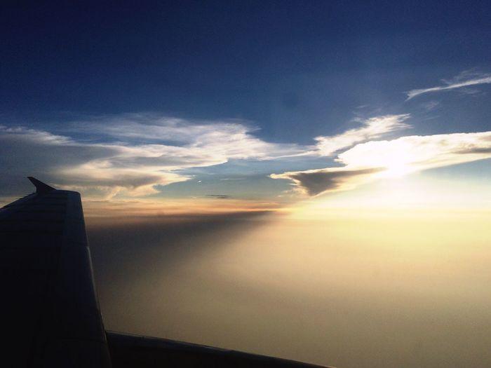 Sunset Onplane Airasia Bangkok Thailand.