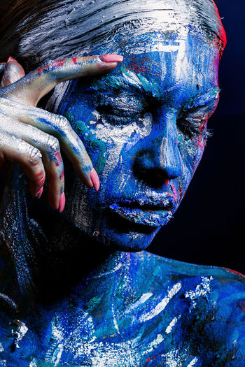 Woman Wearing Body Paint