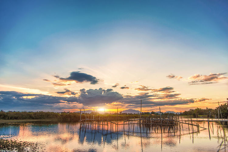Beauty In Nature Cloud - Sky Lake Nature No People Outdoors Reflection Scenics - Nature Sky Sunset Tranquil Scene Tranquility Tree Water