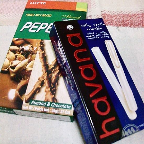 Having a midnight snacks tonight :) Peppero Havana