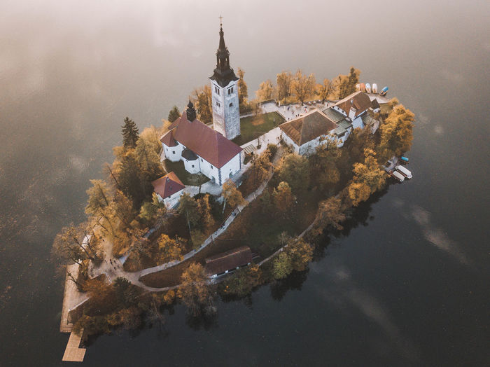 swimming island Water Built Structure Architecture Nature No People Reflection Outdoors Plant Waterfront Autumn Nature Nature_collection Nature Photography Outdoor Photography Drone  Dronephotography Sun Sunset Sunrise Place Of Worship