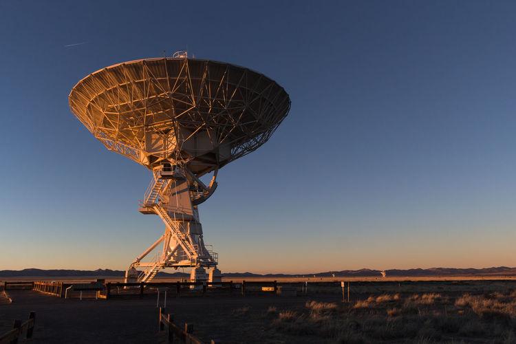 Radar Against Clear Blue Sky