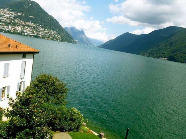 Lugano Lago Di Lugano  Svizzerland Svizzera Schweiz Lake Lake View Water Mountain Nature Beauty In Nature Sky Day Outdoors No People