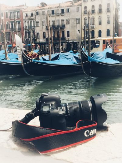 Canon_official Canon6d Canon Venice View Venice, Italy Venice IPhone IPhoneography Camera Travel Destinations Gondola - Traditional Boat Nautical Vessel Transportation Water Mode Of Transportation Moored Building Exterior Day Travel Canal Architecture Travel Tourism