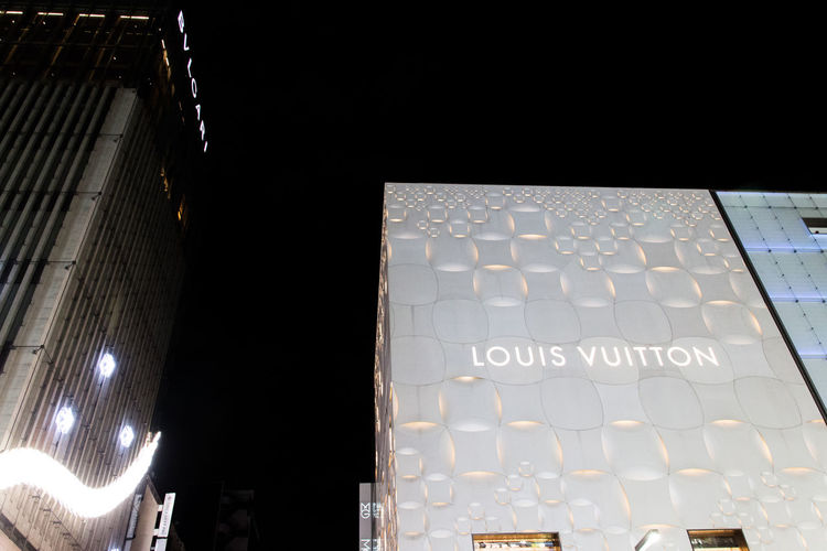Architecture Architecture Brand Brand Logo Building Building Exterior Built Structure Fashion Fashion Forever Fresh On Eyeem  Illuminated Indoors  Logos Louis Vuitton Low Angle View Night Night View No People Vuitton The Architect - 2017 EyeEm Awards