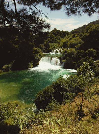 National Park Krka Landscape Lake Trip Lake View Lakeside Lakescape Collection Krka Falls Lakescape Lakeshore Tree Water Forest Sky Waterfall Flowing Water River Power In Nature Stream - Flowing Water Rushing Tranquility Rapid Falling Water Calm The Traveler - 2018 EyeEm Awards