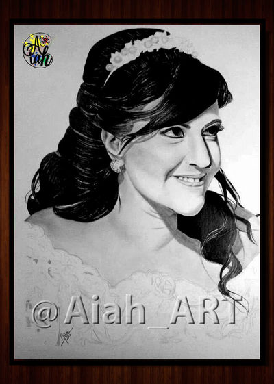 Aiah_art One Person Portrait Arts And Crafts Aiah_artwork Pencils Modern Art Gallery White Background Contemporary Art Decor Photograph.