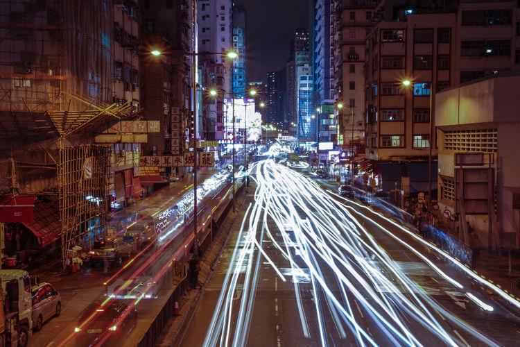 City City City Life City Lights City Street Cityscapes Diminishing Perspective Hong Kong HongKong Illuminated Light Trail Light Trails Lights Long Exposure Motion Night Road Road Rush Hour Speed Street Street Light The Way Forward Traffic Transportation