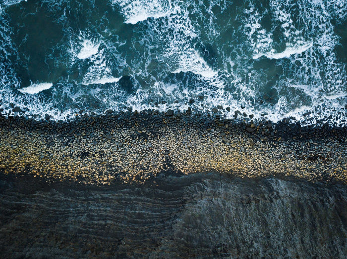 An aerial view of a shoreline in Dorset, UK, January 2019. Sea Water Motion Wave Beauty In Nature Rock Nature Power In Nature High Angle View Outdoors Flowing Water Drone  Aerial View Aerial Photography Aerial Coast Coastline Coastline Landscape Dronephotography Drone Photography England Dorset Dorset Coast No People Jurassic Coast