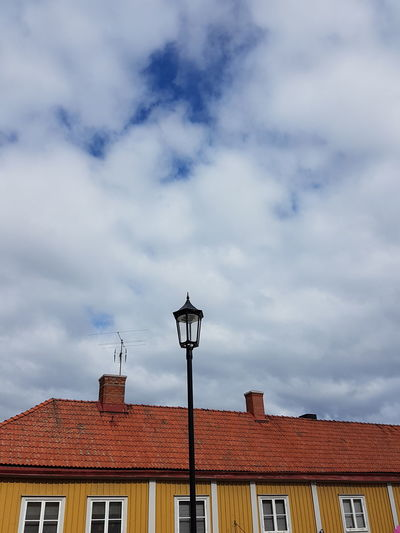Architecture Built Structure Roof House Street Light Cloud - Sky Sky Cloud Day Outdoors Lamp Post Sweden Eksjö  Sweden Architecture No People Cloudy Town