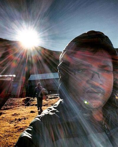 Thangsing Sikkim Way to GoechaLA2015 Selfie ThatsMe Shinedown Instagram Instaselfie Trekking Shambhala Simplicity Nopainnogain TeamCleanUp Portrait Lightandshadow Traveldiaries Travel2015 ArpanNag Instagram Instashot Instamoment OnTheEdge Goodmorning
