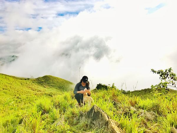 Mountain Outdoors Backpack Landscape The Great Outdoors - 2017 EyeEm Awards Cloud - Sky Adventure Beauty In Nature Phmountains Eyemnaturelover Seaofclouds