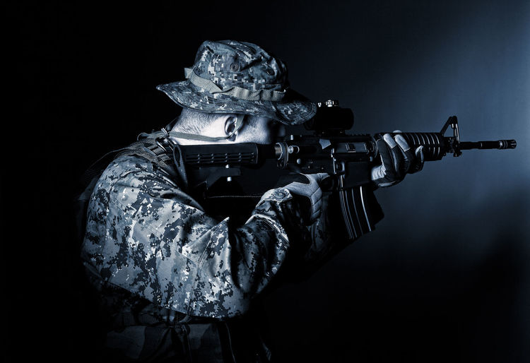 Weapon Military Soldier Portrait Rifle Man Uniform Airborne Armed Army Camouflage Caucasian Combat Commando Forces Green Gun Hat Marines Protection Ranger Security Special Swat Troops Uniform Violence War Warrior White Scope M4