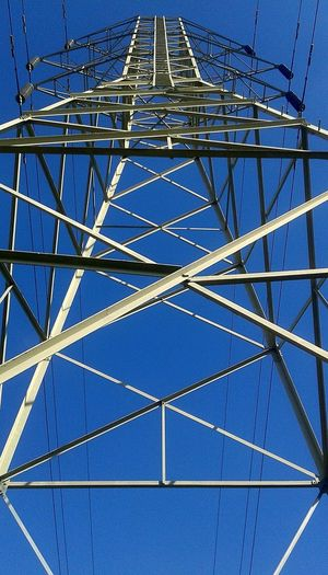 """""""Untitled"""" 🌐 Metal Blue Pattern No People Cable Day Full Frame Architecture One Step Forward Be. Ready. Backgrounds Steel Built Structure Clear Sky Close-up Electric Grid Taking Photos Sky From My Eyes To Yours Step It Up Electricity Tower The Way I See It Eye4photography  Check This Out Best Eyeem Pics in California (USA)"""