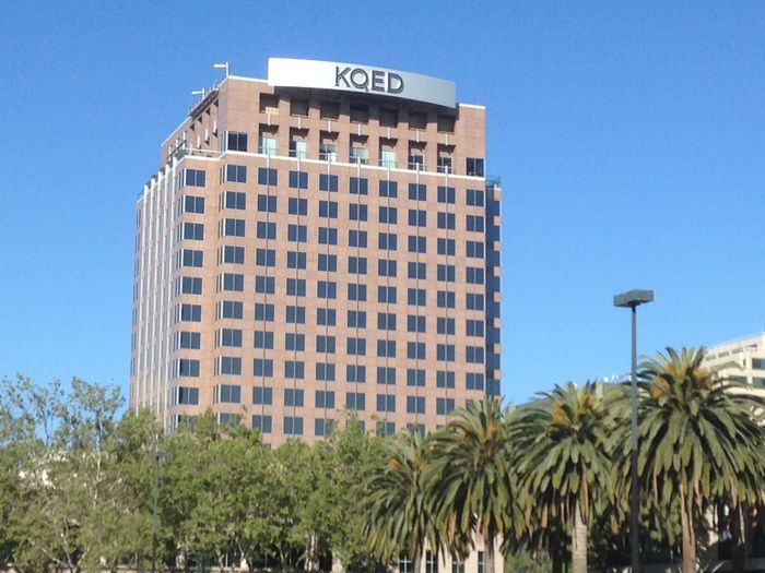 This is the KQED building in downtown San Jose, April 23,2018 KQED Architecture Blue Building Building Exterior Built Structure City Clear Sky Day Downtown San Jose Low Angle View Media Nature No People Office Building Exterior Outdoors Palm Tree Plant Public Tv Sky Tall - High Tower Travel Destinations Tree Tropical Climate