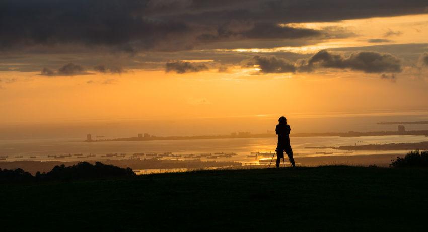 Sunrise sunrise Sunrise Nature Morning Itsmorefuninthephilippines Sony A6000 Beach Silhouette Full Length Sea Water Outdoors Landscape Sky