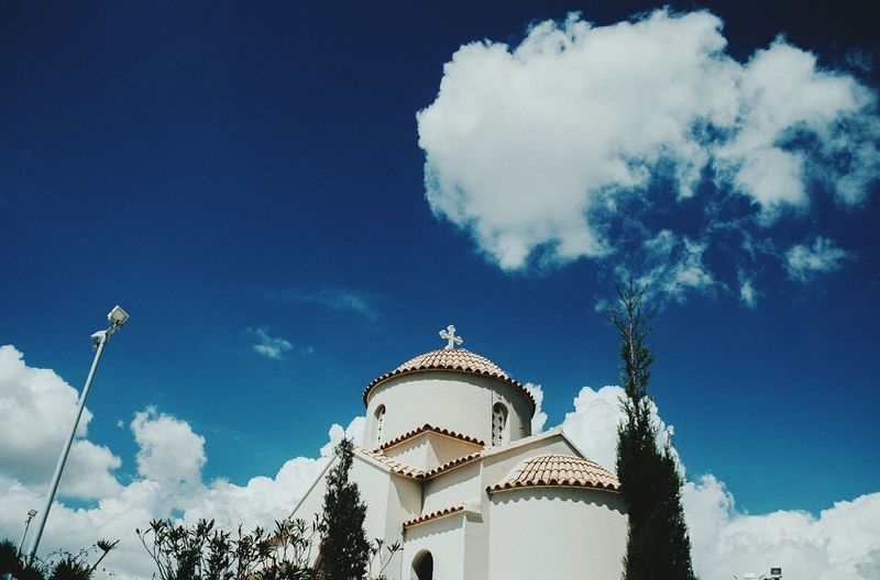 #orthodoxchurch #cyprus Architecture Sky Building Exterior Built Structure Low Angle View Travel Destinations Tree No People Nature Outdoors