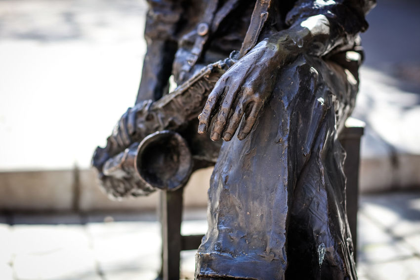 Hugh Masekela Bronze Hugh Masekela Johannesburg Art Bronze Sculpture Day Hand Human Representation Outdoors Sculpture Street Art