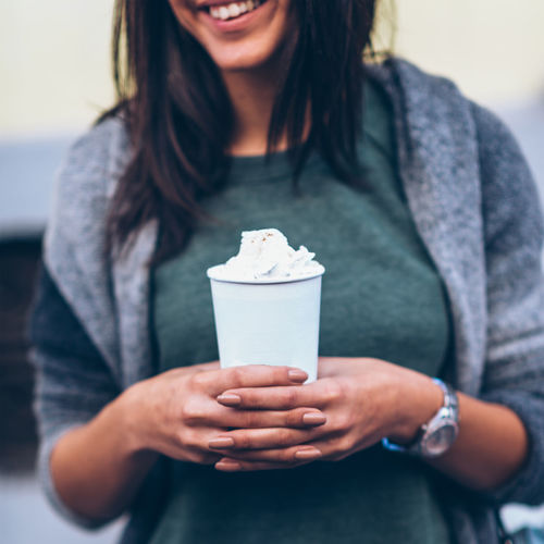 Woman With Take-Away Coffee In The City 20-29 Years 20s Autumn Beautiful City Coffee Dark Hair Lifestyle Shopping Square Woman Young Cute Drink Holding Long Hair Looking One Person Outdoors Smiling Springtime Take Away Coffee Teenager Young Adult