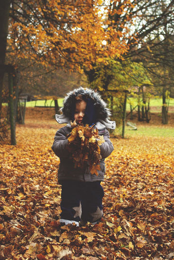 Autumn One Person Leaf Leaves Young Adult People Full Length Tree Change Nature Outdoors Beauty In Nature Day Boy Nature On Your Doorstep Autumn Colors Childhood Child Children Photography Autumn Leaves Nature Photography Carefree Growth People And Places Always Be Cozy