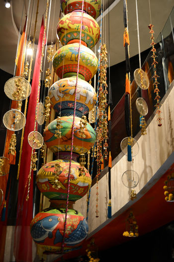 Hanging Ceiling Chinese New Year Cultures Hanging Indoors  Matka Night No People Wall Hanging