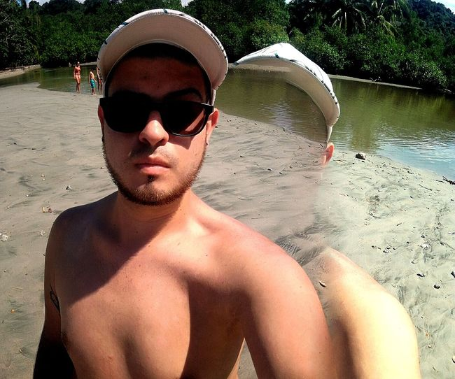 My life #costarica Sunglasses Beach Water Sand Summer Young Adult One Person Real People Lifestyles Young Men Nature Vacations