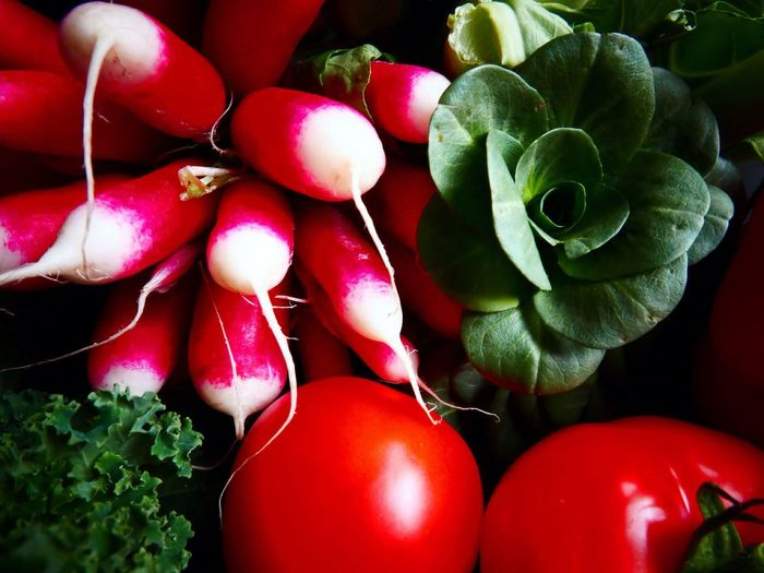 High Angle View Of Assorted Vegetables