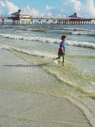 Beach Life Is A Beach Having Fun My Kids Fort Myers Beach Sea And Sky Pier