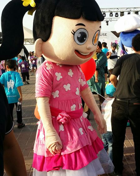 Uae,abudhabi Etihadairways 3rd Annual Charity Event Run For A Cause Local Cartoon Character Outdoor Photography