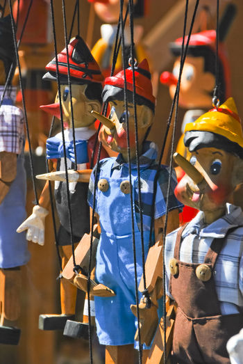 Market Arts Culture And Entertainment Day Focus On Foreground Hanging Indoors  Music Musical Instrument Pinocchio Pinochio Pinocho Puppet Representation