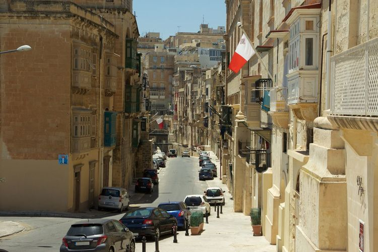 Architecture Car City Malta Mediterranean  Old Town Street Street Photography Streetphotography Summer Transportation Travel Traveling Valetta Miles Away