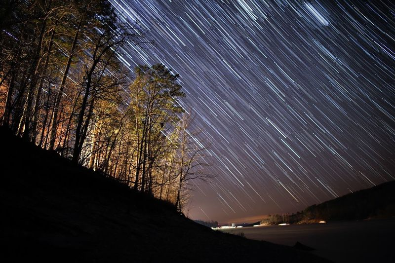 Ouachita night sky First Eyeem Photo Long Exposure Long Exposure Night Photography Star Trails Starscape Oachitah Night Lake