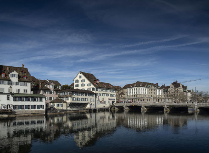 limmat river and old town of Zurich city in Switzerland City Downtown Limmat Old Town Riverside Swiss City Zürich Europe European City Limmatquai Pictures Switzerland Zurich, Switzerland