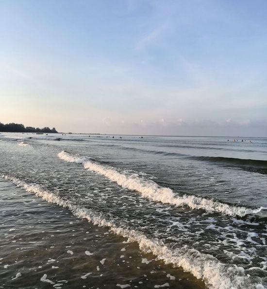 Beach Sea Water Landscape Outdoors Sky Happy Family! ❤