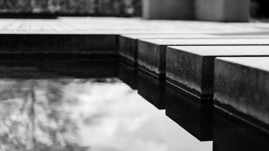 Hard water Pond EyeEm Best Shots First Eyeem Photo Hello World Monochrome Blackandwhite Modern Concrete Reflection No People Built Structure Architecture Indoors  Close-up Selective Focus Focus On Foreground Building Water
