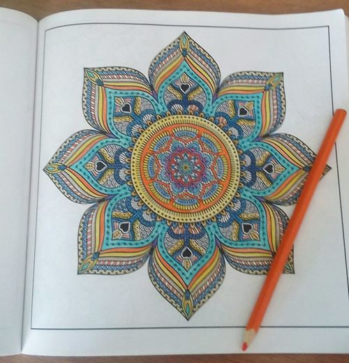 Mandala Coloring Book Waning Crescent Moon Tranquility Morning Rituals Indoors
