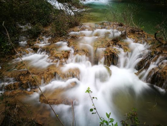Water Waterfall Tree Forest River Moss Long Exposure Riverbank Nature Reserve Landscape Flowing Water Power In Nature Rock - Object Stream - Flowing Water Stream