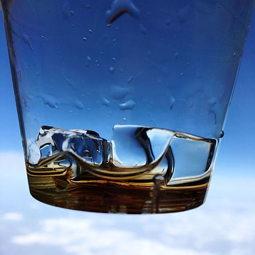 Detail Shot Of Water In Glass