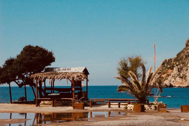 Clear Sky Sea Beauty In Nature Wood Salt Greece