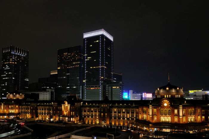 Architecture Building Exterior Built Structure Capital Cities  City Life Cityscape Crowded Development Human Settlement Illuminated Modern Night Lights Nightphotography Office Building Residential District Skyscraper Tall Tall - High Tokyo Station Tokyo Station Hotel Tower Xpro2 X-PRO2 Cities At Night The Architect - 2016 EyeEm Awards