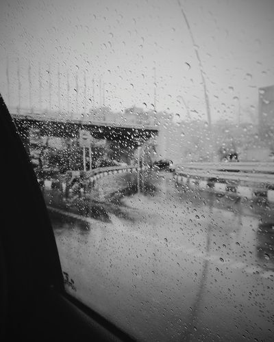Rainy ☔ Glass - Material Window Wet Water Transportation No People Car Looking Through Window First Eyeem Photo