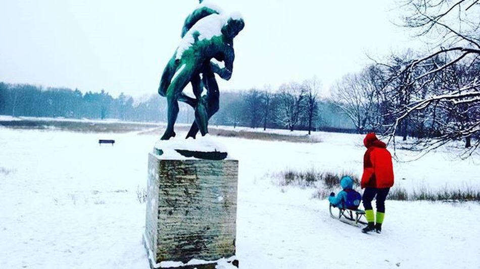 Sledge Sledging Statue Snow Winter Ice White Berlin Park