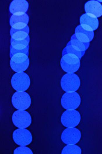 Close-up of illuminated blue lights